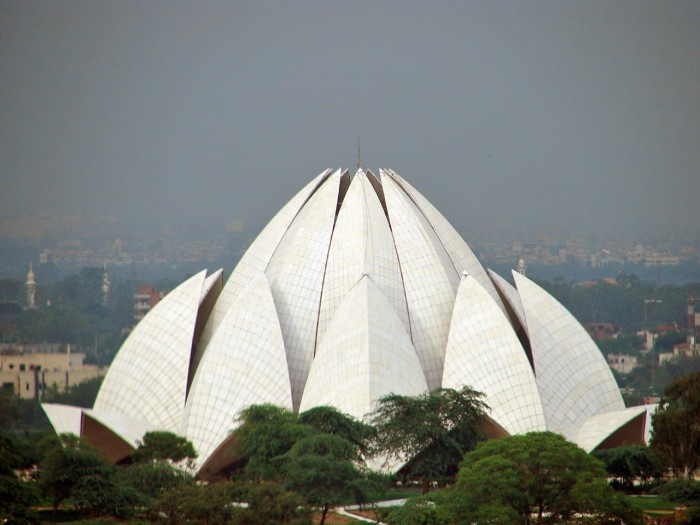 photoblog image Bahai Temple, also called the Lotus Temple, Delhi